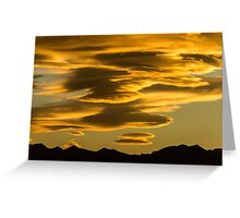 Flying Saucer Sunset Greeting Card