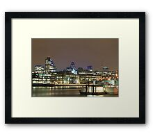 City of London over the Thames, England, UK Framed Print