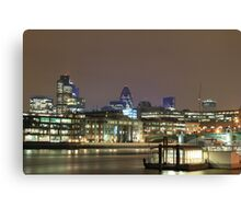 City of London over the Thames, England, UK Canvas Print