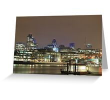 City of London over the Thames, England, UK Greeting Card
