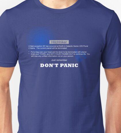 Hitchhiker's Error V2 Unisex T-Shirt