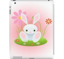 Little Blue Baby Bunny With Flowers iPad Case/Skin