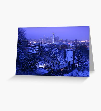Christmas in Seattle Greeting Card