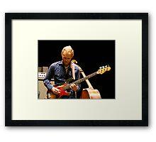 Chris Wood on the Fender Framed Print