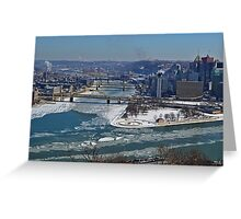 Frozen Three Rivers Greeting Card