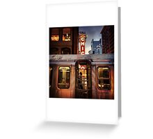 Theater through the train Greeting Card