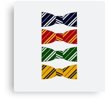 hogwarts bow ties Canvas Print