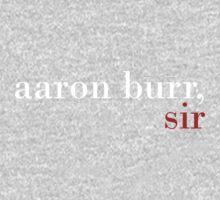 Aaron Burr, Sir - Black BG One Piece - Long Sleeve
