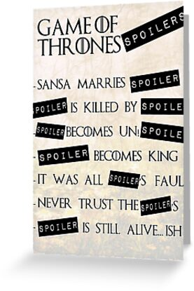 Game of Thrones SPOILERS by Elowrey