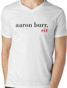 Aaron Burr, Sir Mens V-Neck T-Shirt