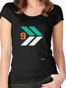 Arrows 1 - Emerald Green/Orange/White Women's Fitted Scoop T-Shirt