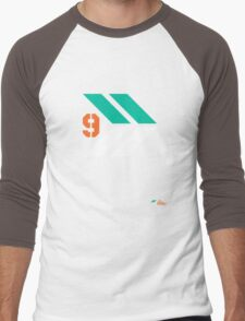 Arrows 1 - Emerald Green/Orange/White Men's Baseball ¾ T-Shirt