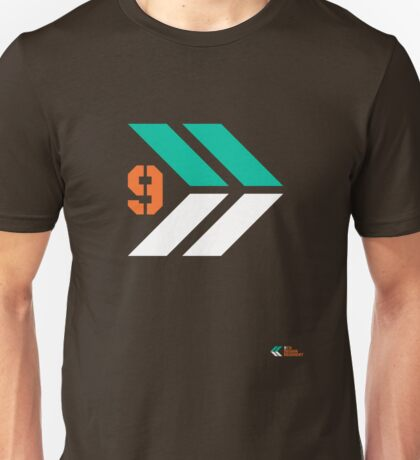 Arrows 1 - Emerald Green/Orange/White Unisex T-Shirt