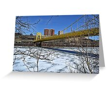 10th Street Bridge in Winter Greeting Card