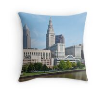 Tower City Skyline Throw Pillow