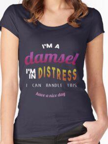 Damsel in Distress Women's Fitted Scoop T-Shirt