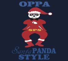 ★ټOppa Santa-Panda Style Hilarious Clothing & Stickersټ★ Kids Tee