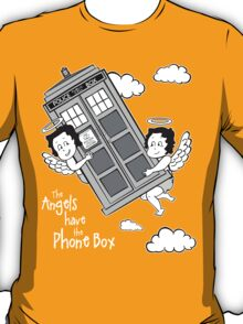 The Angels have the Phone Box - Version 3 BW (for dark tees) T-Shirt