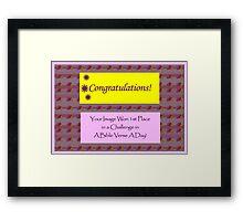 Banner - ABVAD - Challenge Winner Framed Print