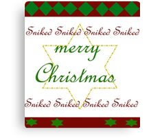 ugly Christmas Sweater Sniked Canvas Print