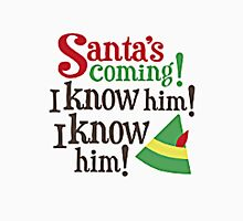 SANTA'S COMING, I KNOW HIM Men's Baseball ¾ T-Shirt