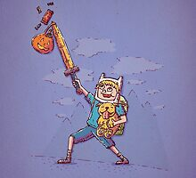 Finn and Jake Trick or Treat by TaylorRoseArt