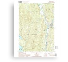 USGS TOPO Map New Hampshire NH Ashland 329469 2000 24000 Canvas Print