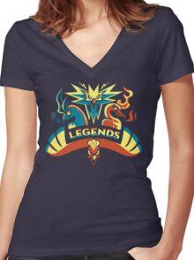 LEGENDS - Gold Women's Fitted V-Neck T-Shirt