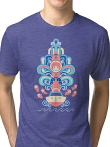 Ponyo Deco Tri-blend T-Shirt