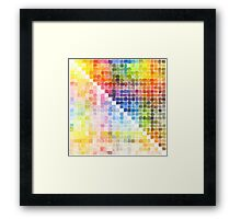 Watercolour Mixing Mega Chart Framed Print