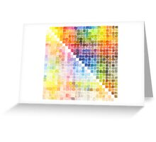 Watercolour Mixing Mega Chart Greeting Card