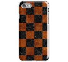 SQR1 BK MARBLE BURL iPhone Case/Skin