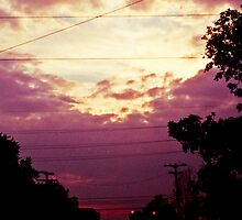 Sunset and Power Lines by AngelRenee