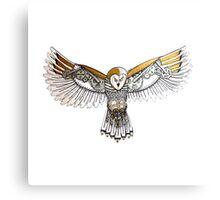 Clockwork Owl Canvas Print
