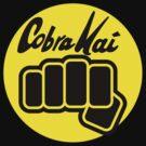 Cobra Kai T-shirt and Stickers  by eZonkey