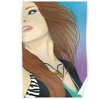 Mia Von Glitz Pencil Drawing Poster