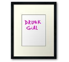 drunk girl funny club pub bar 80s tee Framed Print