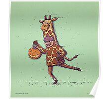 Giraffe Trick or Treat Poster