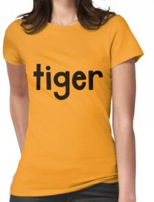Tiger Yellow Womens Fitted T-Shirt