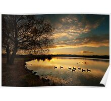 Sunset on Sloans Lake Poster