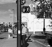 Man at Stop Light by Armando Martinez
