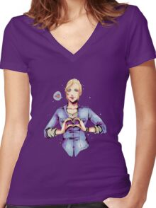Elena ♥ you!! Women's Fitted V-Neck T-Shirt