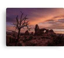Sunset at Turret Arch Canvas Print