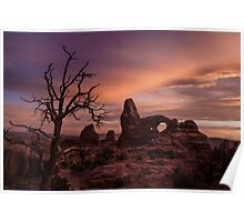 Sunset at Turret Arch Poster