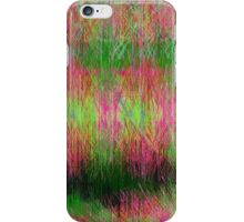 Lime and pink fury abstract. iPhone Case/Skin