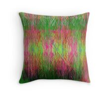 Lime and pink fury abstract. Throw Pillow