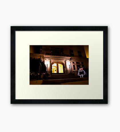 The Lights of Clinton Avenue Framed Print