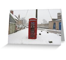 Telephone box in the Snow Greeting Card