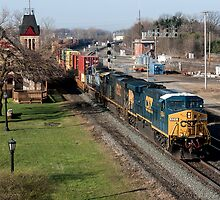 CSX Stack Train by StonePhotos