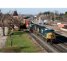 CSX Stack Train Photographic Print